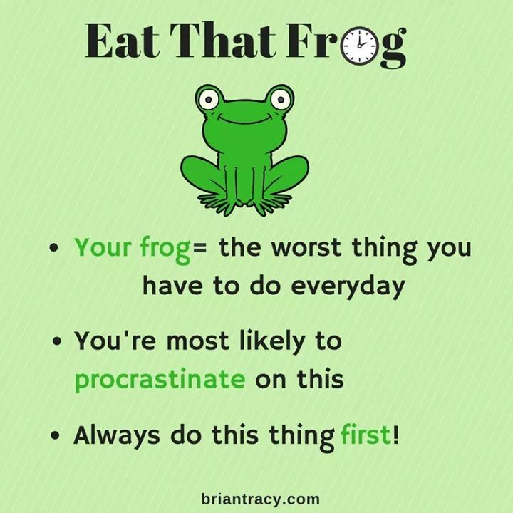 remote working tips - eat that frog